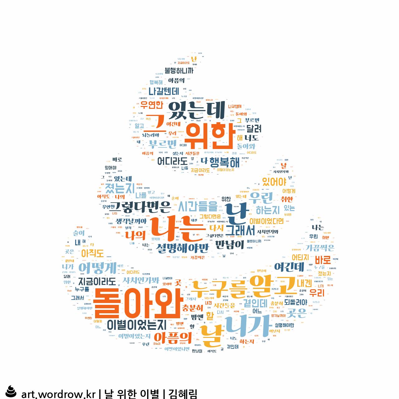 워드 클라우드: 날 위한 이별 [김혜림]-69